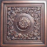 Majesty Antique Copper Black (24×24″ Pvc) Ceiling Tile