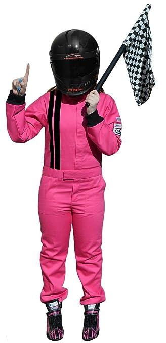Amazon.com: Racerdirect – traje de chica rosa para niños y ...