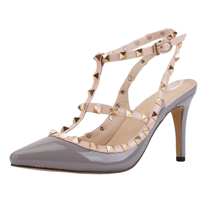 mode hommes / / / femmes est euochengqus orteil hasp mince talons haut talons des chaussures sandales rivet a souligné de façon moderne et élégante de vente ab8394 marque festin 1de0d0