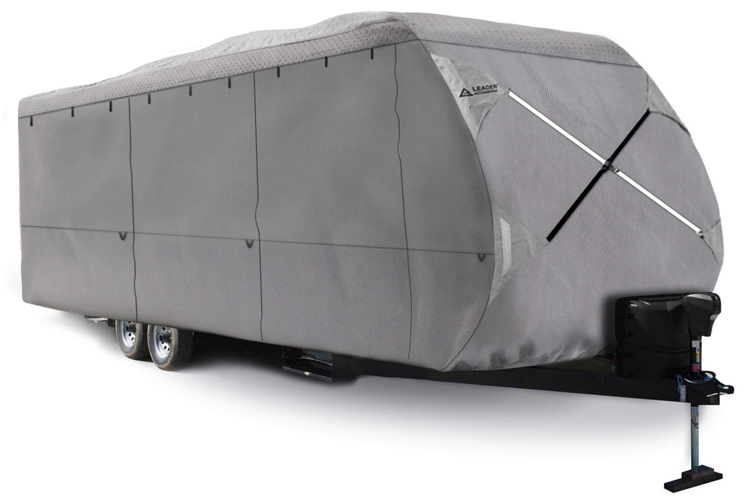 Leader Accessories Travel Trailer RV cover (4 Layer Top/Grey, Fits 27'-30') by Leader Accessories (Image #1)