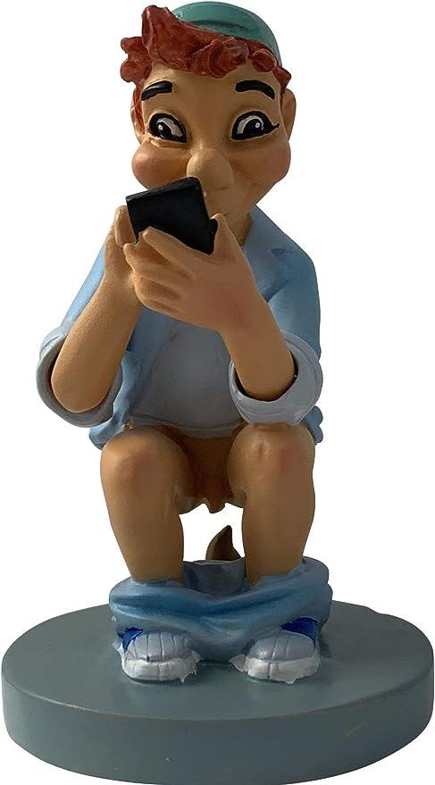 Kleines Scheisserchen Lustige Dekofigur Mit Smartphone Und Hauflein Badezimmer Deko Caganer Deko Badezimmer Deko Figuren Badezimmer Amazon De Kuche Haushalt