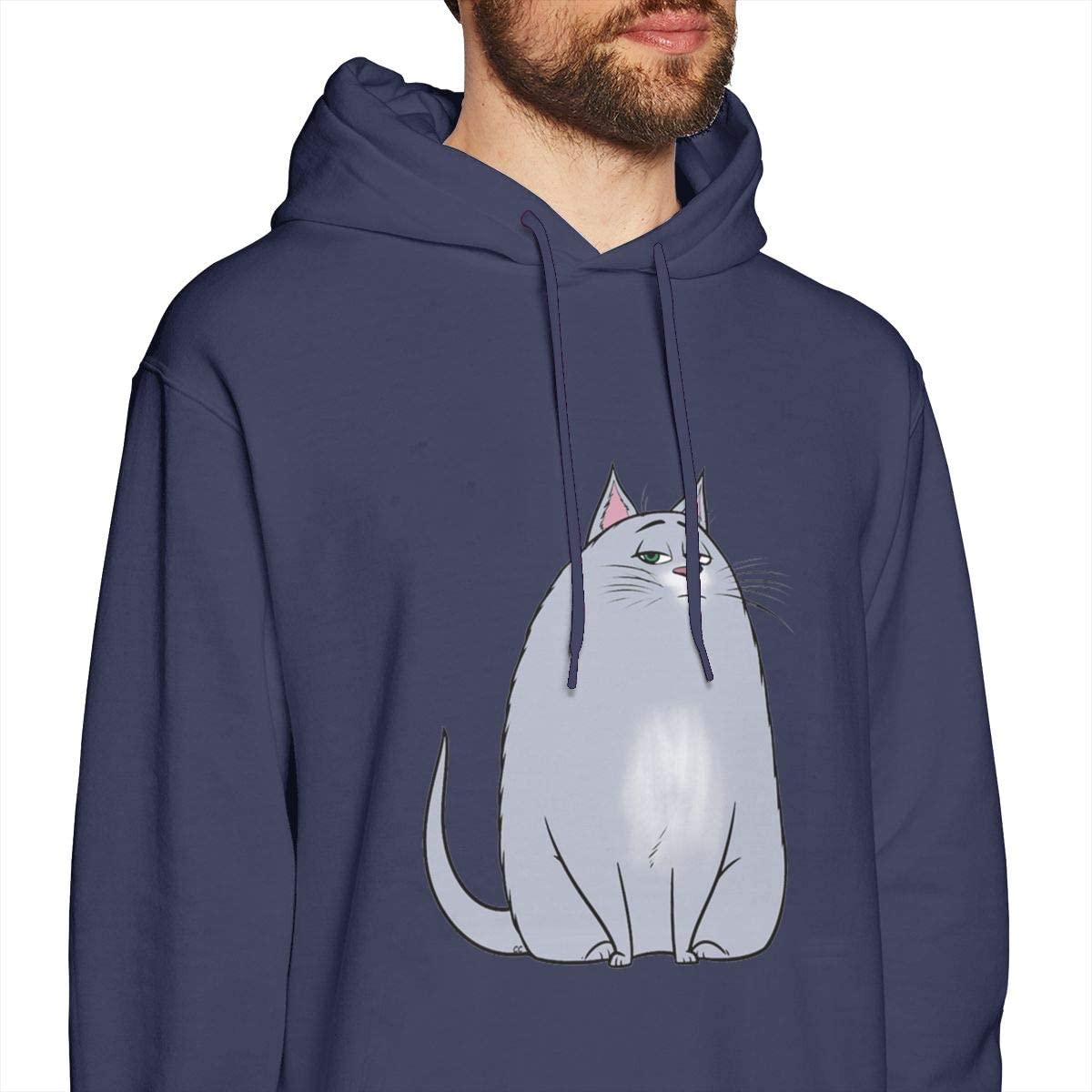 Zhenzhan Male Gidget Cat Classic Pullover Printed Hooded Shirts in 7 Colors