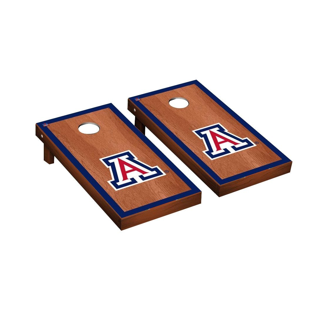 Victory Tailgate Arizona Wildcats Regulation Cornhole Game Set Rosewood Stained Border Version