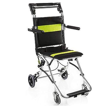 WCP IKYMPQAZ Silla de Ruedas Drive Medical Handicapped Sillas de Ruedas para Ancianos Plegable Portable Sillas