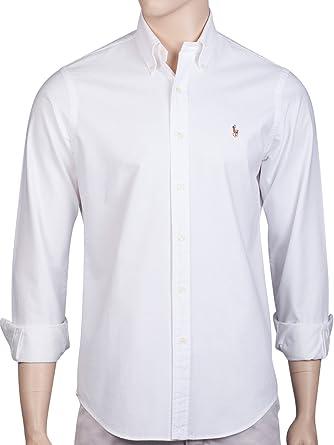 fe3474297 Ralph Lauren Polo Mens Oxford Shirt Blue White Pink Standard Fit (Medium