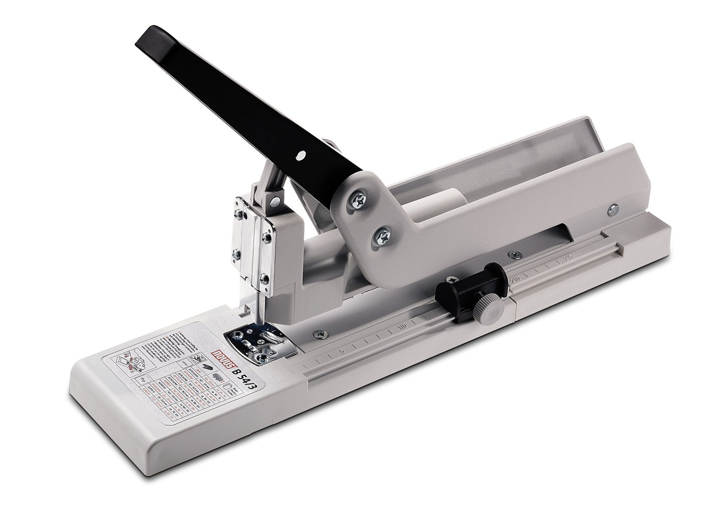 Novus 023-0038 B54 Heavy Duty Long Arm Stapler, 20 - 170 Sheet Capacity, 9-7/8'' Throat Depth for Greater Reach Across Documents and Binding Booklets, Accepts Up to 20 mm Staples