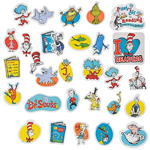 Amscan Dr. Seuss Books Cutouts, Classroom Decorations, Cardstock, 30 Count