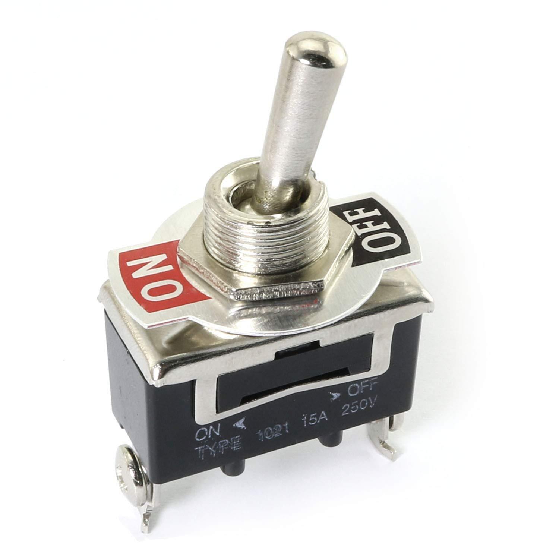 11mm Paneel Montage SPST ON//OFF 2 Position Kippschalter AC250V 15A E-TEN1021