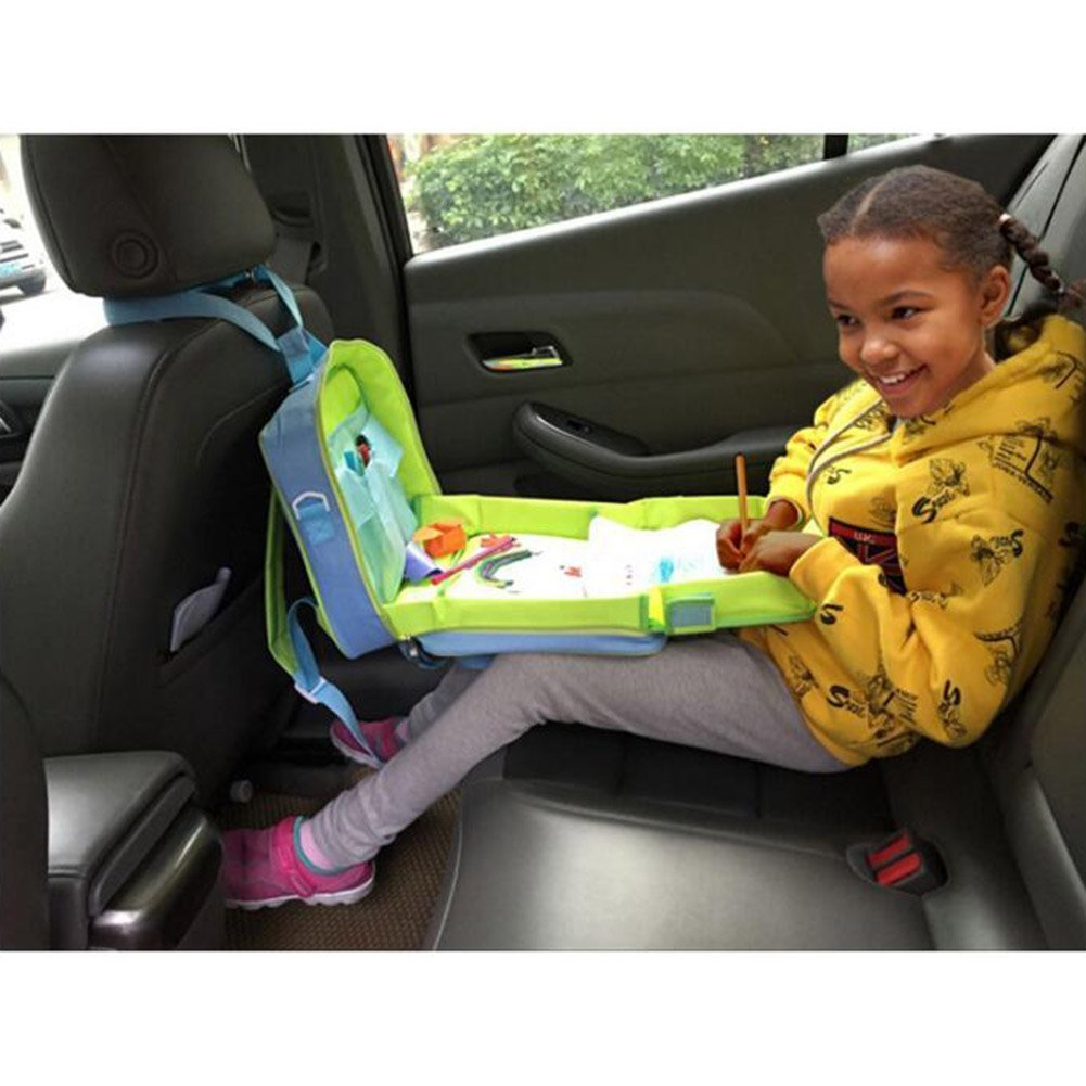 Highdas Child Car Seat Multi Purpose Tray Painting Childrens School Bags Blue Amazoncouk Baby