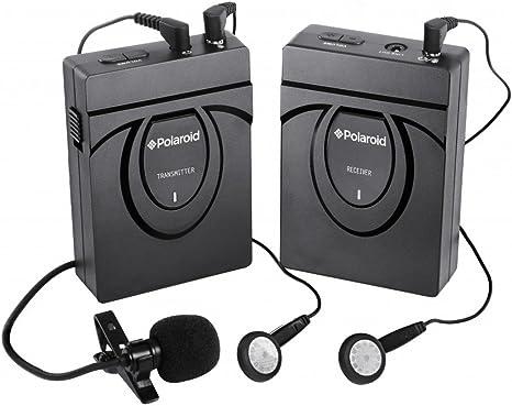 Polaroid Sistema de micrófono inalámbrico de 2,4 GHz para cámaras ...