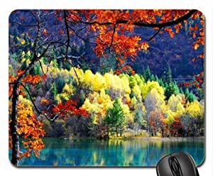 Autumn trees near river Mouse Pad, Mousepad (Rivers Mouse Pad)