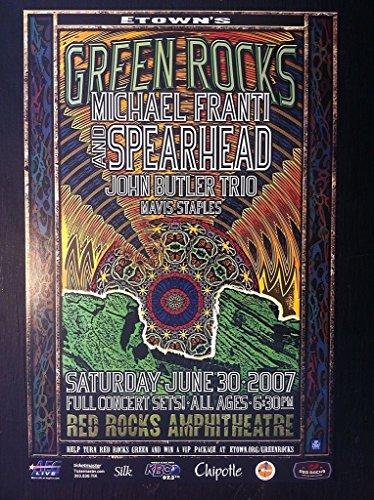Spearhead Michael Franti Mavis Staples 2007 Red Rocks Ltd Edition Concert (2007 Concert Poster)