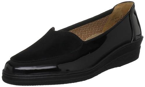 Gabor - mocasines y zapatos sin cordones mujer, color negro, talla 38 (5