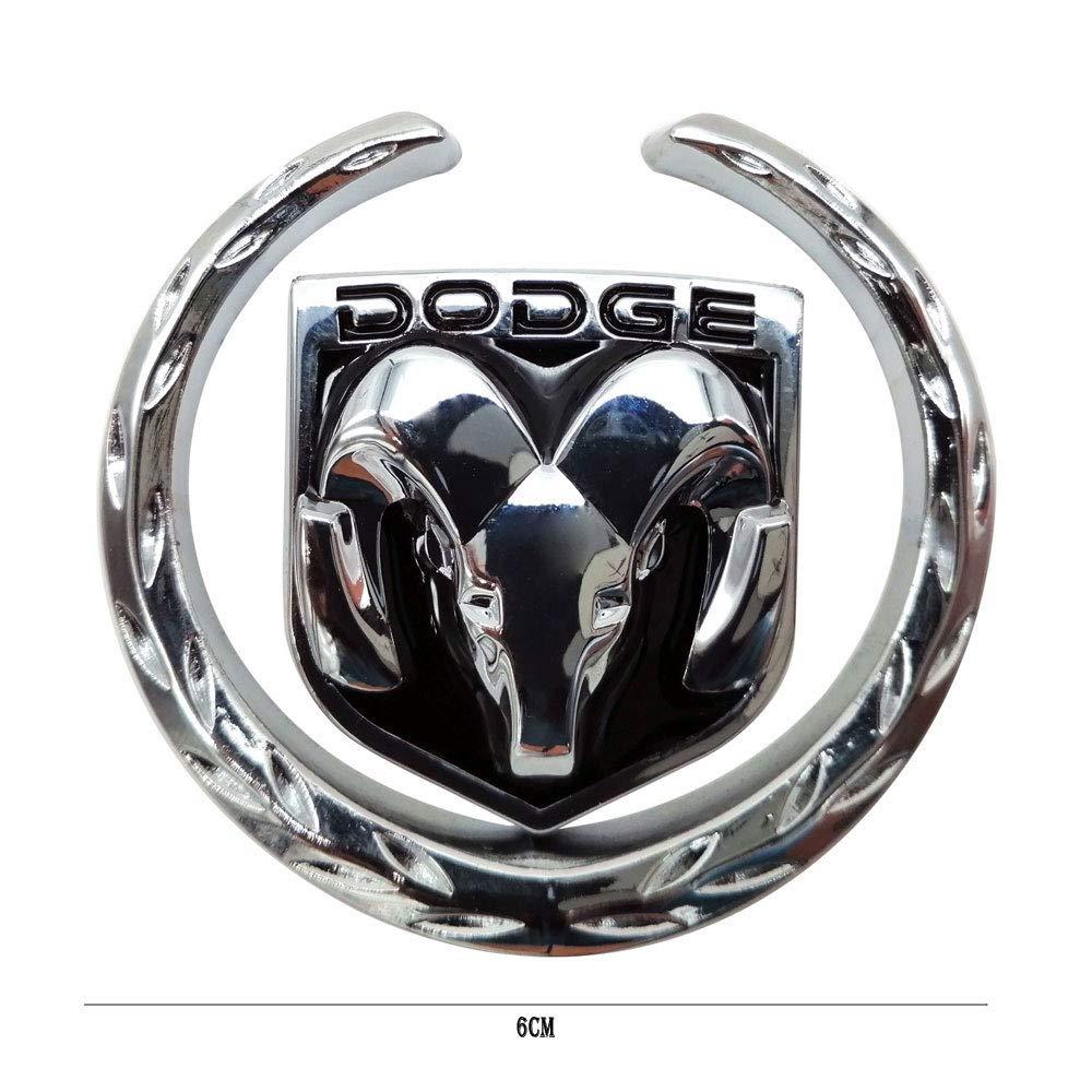 Universal Metal Emblem Badge Sticker Decal Car Logo for Dodge Ram Journey Caravan Caliber Pack of 2 Durango