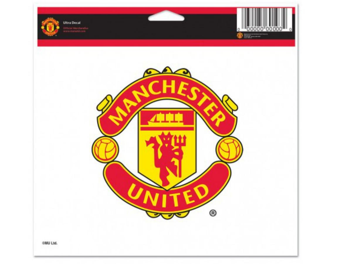WinCraft Soccer Manchester United 60833011 Multi-Use Colored Decal 5 x 6