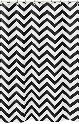 Amazon.com: Black and White Chevron Zig Zag Kids Bathroom Fabric ...
