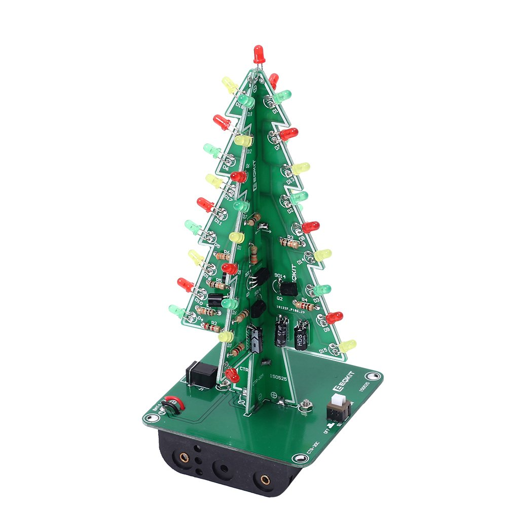 Amazon.com: Icstation DIY 3D Christmas Tree Kit with 3 Color ...