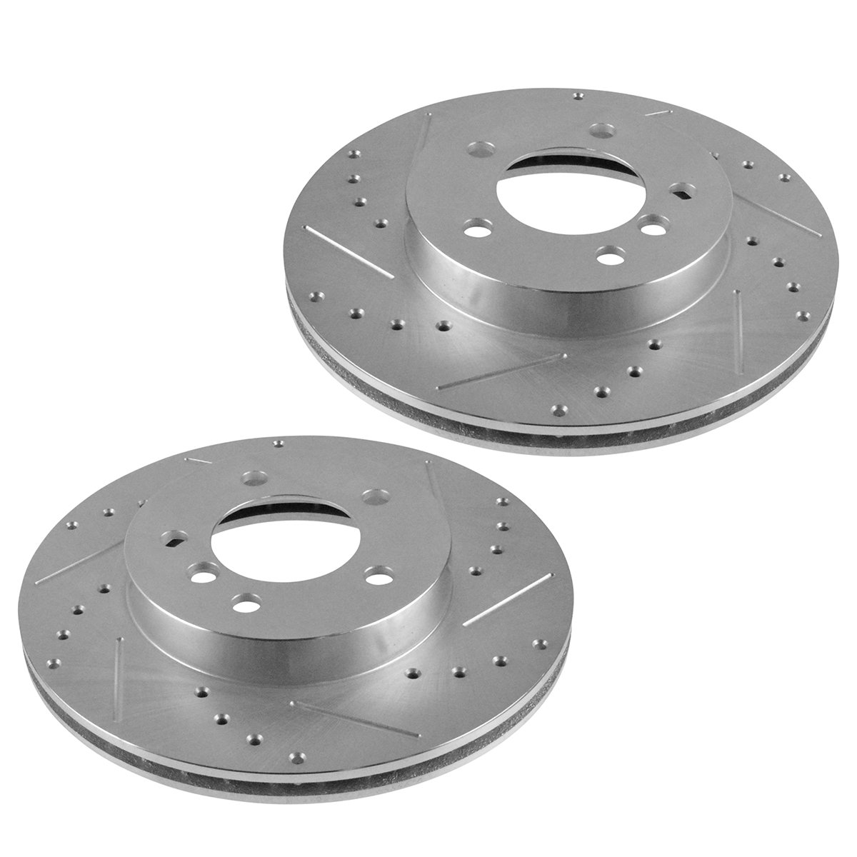 Nakamoto Performance Brake Rotor Drilled Slotted Ford Zinc Coated Pair for Ford