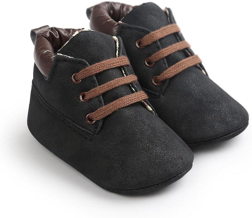 Tonsee/® Chaussures B/éB/é Fille Premier Pas B/éB/é Gar/çOn Chaussure B/éB/é Toddler Gar/çOn Fille Soft Sole PU Cuir Antislip Premi/èRes Chaussures Marcheurs