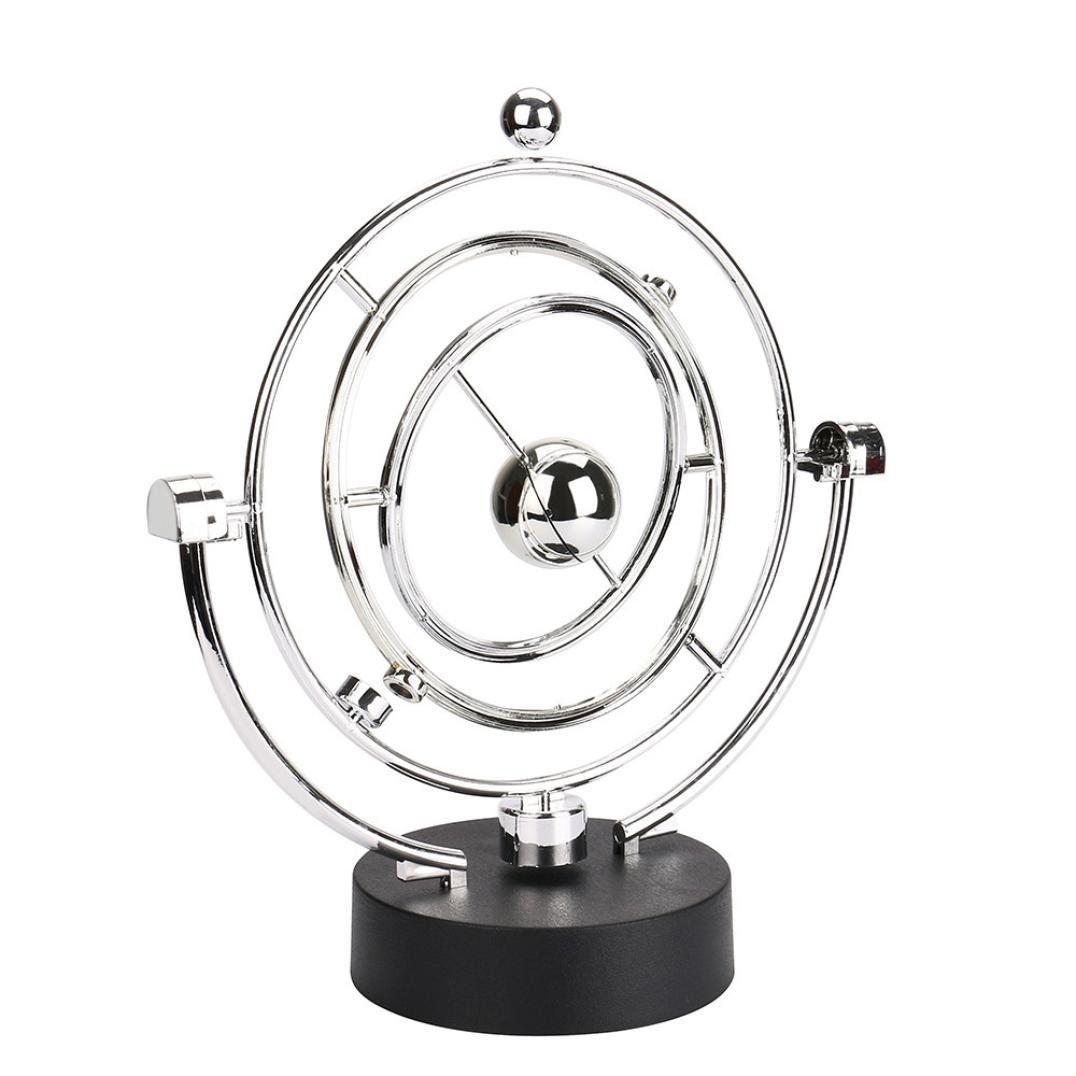 bd2e6e33c1c Rawdah Elettronico Science Toy Perpetuo Movimento Scrivania Giocattolo  Girevole Balance Balls Giocattolo di scienze fisiche Revolving Balance  Balls Physics ...