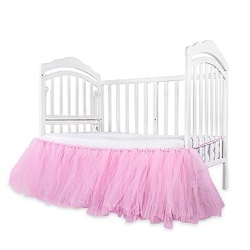 Amazon.com: Falda de tutú para cuna de bebé pequeña, falda ...