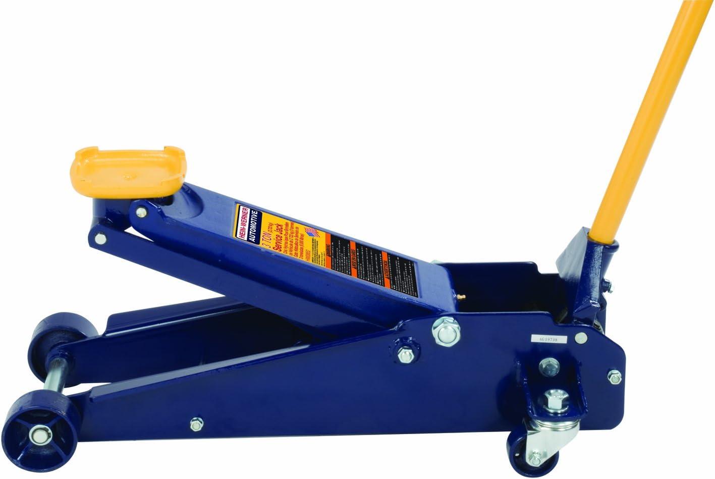 Hein-Werner HW93652 Blue Heavy Duty Service Jack-3 Ton Capacity