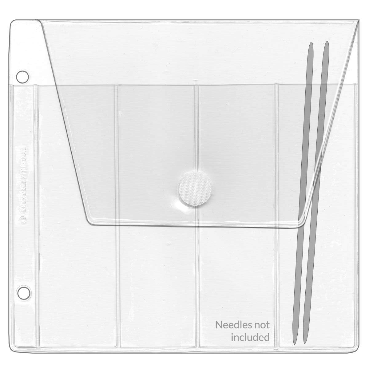 StoreSMART - 6'' Double Pointed Needles Binder Page with Flap and Hook & Loop Closure - 50-Pack - DP4256-50