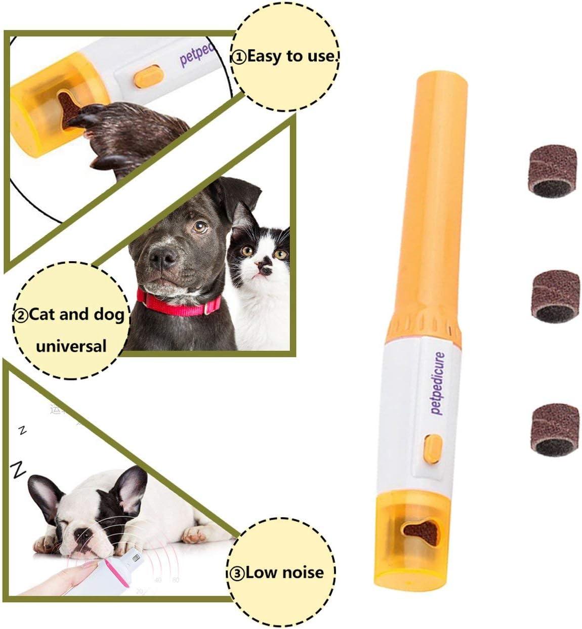 Forbici elettriche Kit Lima per Unghie Manicure per Animali Domestici Cane Tagliaunghie per Cani Trimmer Smerigliatrice per Unghie Toelettatura per Unghie Grinder-Orange BCVBFGCXVB