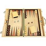 "15"" Backgammon Board Game Set (Oak Wood) - Attache Case"