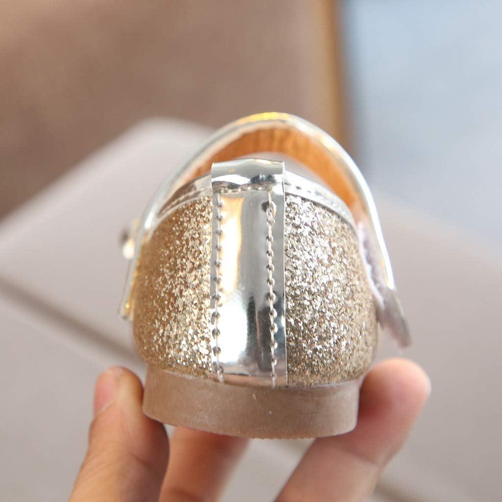 Girls Toddler//Little Kid Ballet Flat Shoes Non-Slip Toddler Prewalker Princess Sneaker Seaintheson Baby Girls Shoes