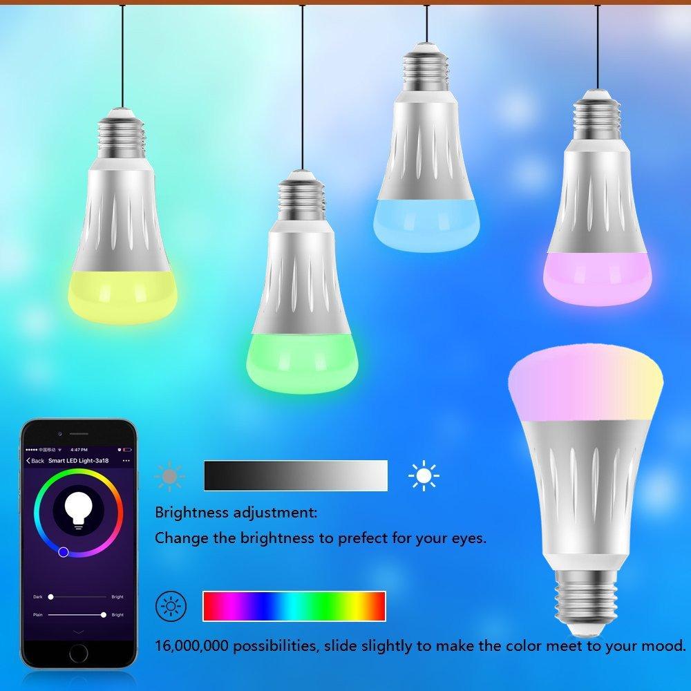 wifi smart led light bulb work with alexa google home ifttt smart home 747180983371 ebay. Black Bedroom Furniture Sets. Home Design Ideas