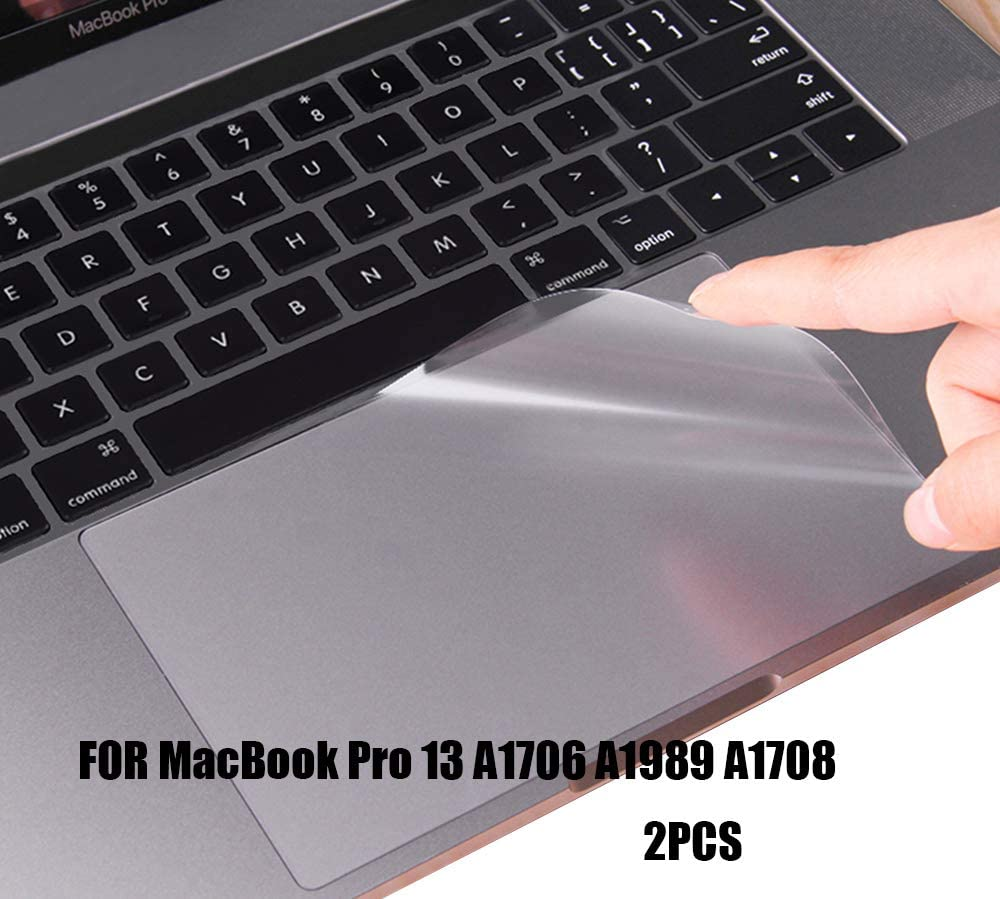 (2 Pack) Clear Anti-Scratch Trackpad Protector Touchpad Cover Skin for Newest MacBook Pro 13 Inch with or Without TouchBar Model A2159 A1706 A1989 and A1708