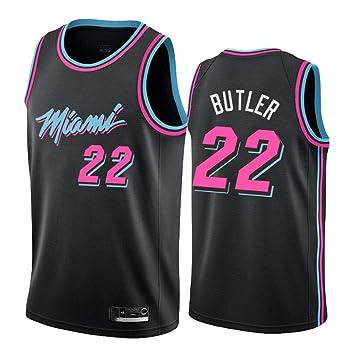 Hombre Mujer Ropa de Baloncesto NBA Miami Heat 22# Butler Jersey ...