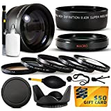 10 Piece Ultimate Lens Package For the Sony Alpha NEX-6 NEX-7 NEX-3N NEX-5T NEX-5R Includes .43x High Definition II Wide Angle Panoramic Macro Fisheye Lens + 2.2x Extreme High Definition AF Telephoto Lens + Professional 5 Piece Filter Kit (UV, CPL, FL, ND4 and 10x Macro Lens) + Flower Lens Hood + ring adapter + Deluxe Lens Cleaning Kit + LCD Screen Protectors + Mini Tripod + 47stphoto Microfiber Cloth + $50 Photo Print Gift Card!
