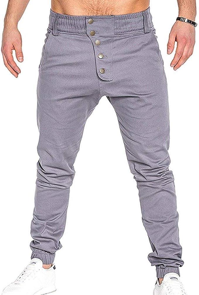 Pantalones para Hombres De Los Hombres Pantalones Harem De ...