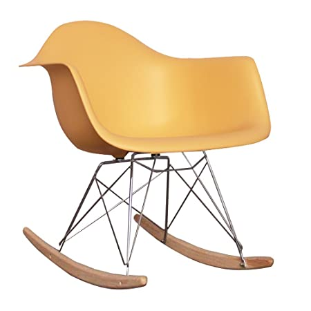Eames Style RAR Rocking (Nursing) Chair   Cream