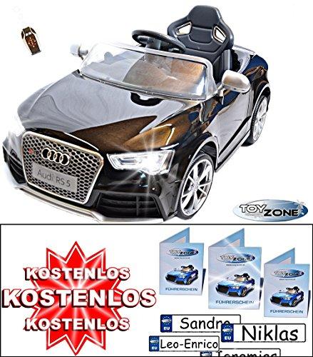 Kinderfahrzeug 12V Kinder Elektro Auto Ride on Audi RS5 schwarz RC Steuerung 2,4GHz