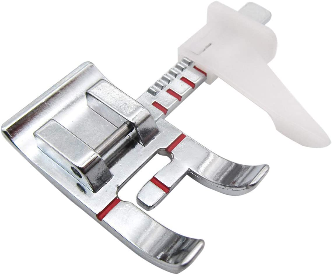 CKPSMS Brand -1PCS#KP-19011 Adjustable Guide Presser Foot Fits for Low Shank Domestic Sewing Machine Brother, Babylock, Singer, Janome, Juki, New Home.