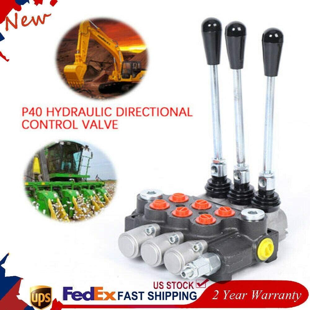 3 Spool P40 Hydraulic Control Valve Valve Index Controller Log ...