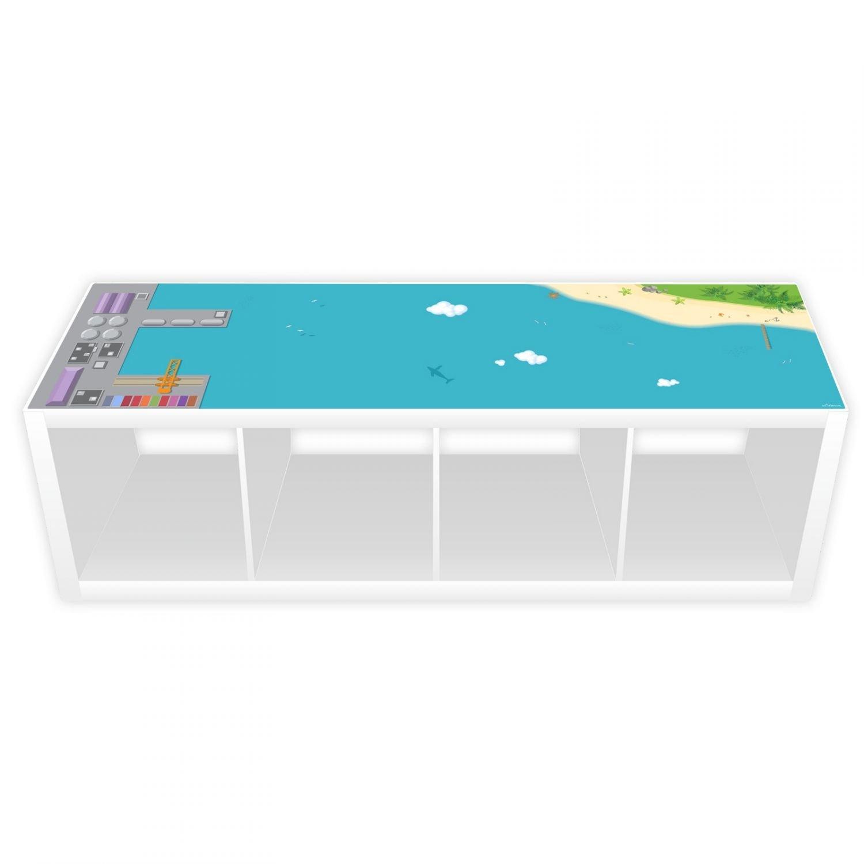 nikima Schönes für Kinder Spielfolie für KALLAX Regal Hafen & Insel 145, 5 x 38, 5 cm Lang (Möbel Nicht Inklusive)