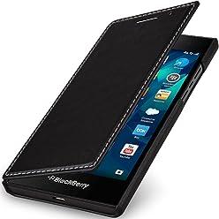 StilGut Book Type, Housse en Cuir pour Blackberry Leap