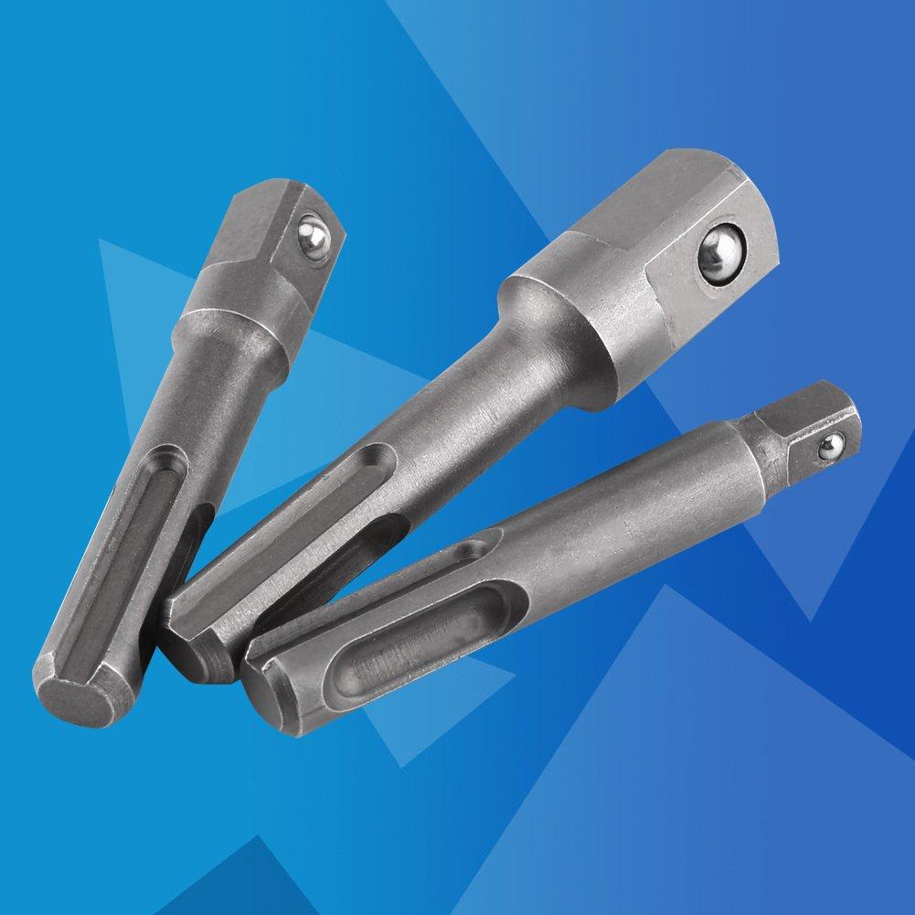 4Pcs 1//4 3//8 1//2 Porte Embouts SDS SDS-Plus Magn/étique Extension de Vissage Tournevis
