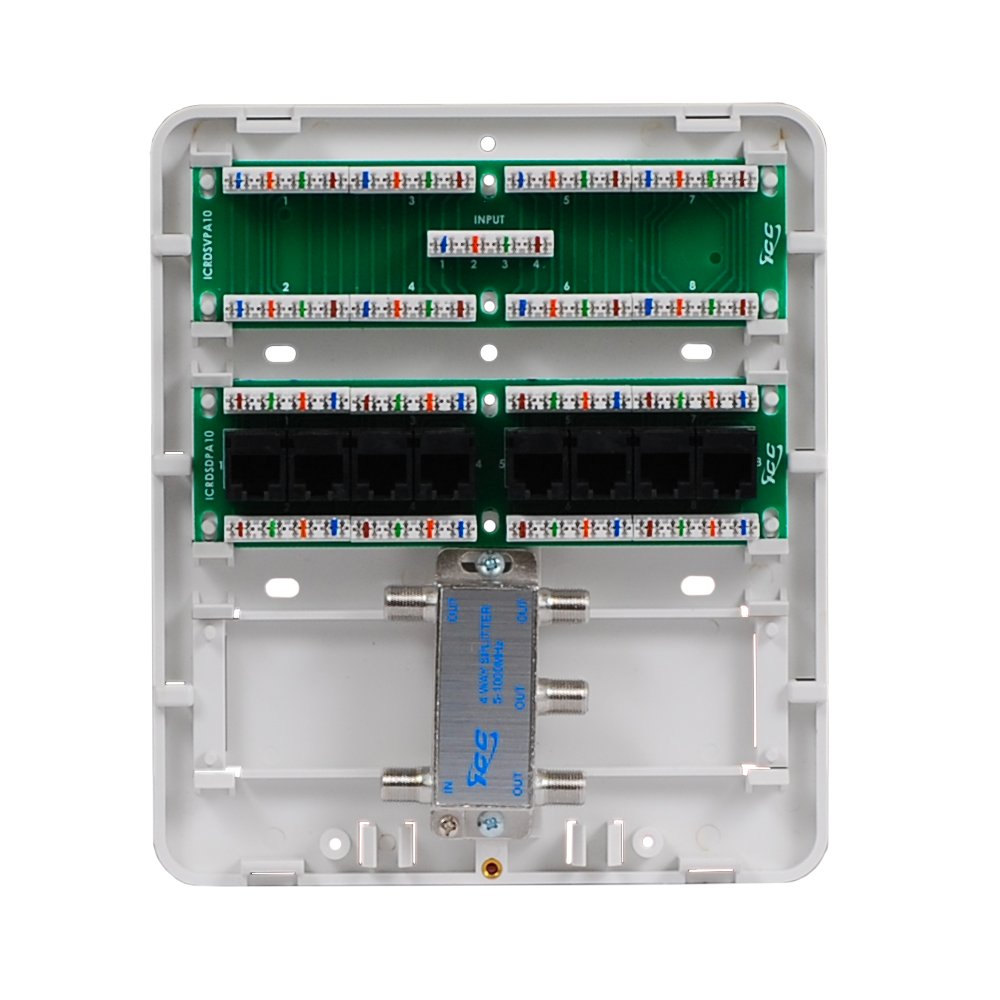 ICC Mini Combo Voice/Data/Video Structured Wiring Enclosure - Electrical  Boxes - Amazon.com
