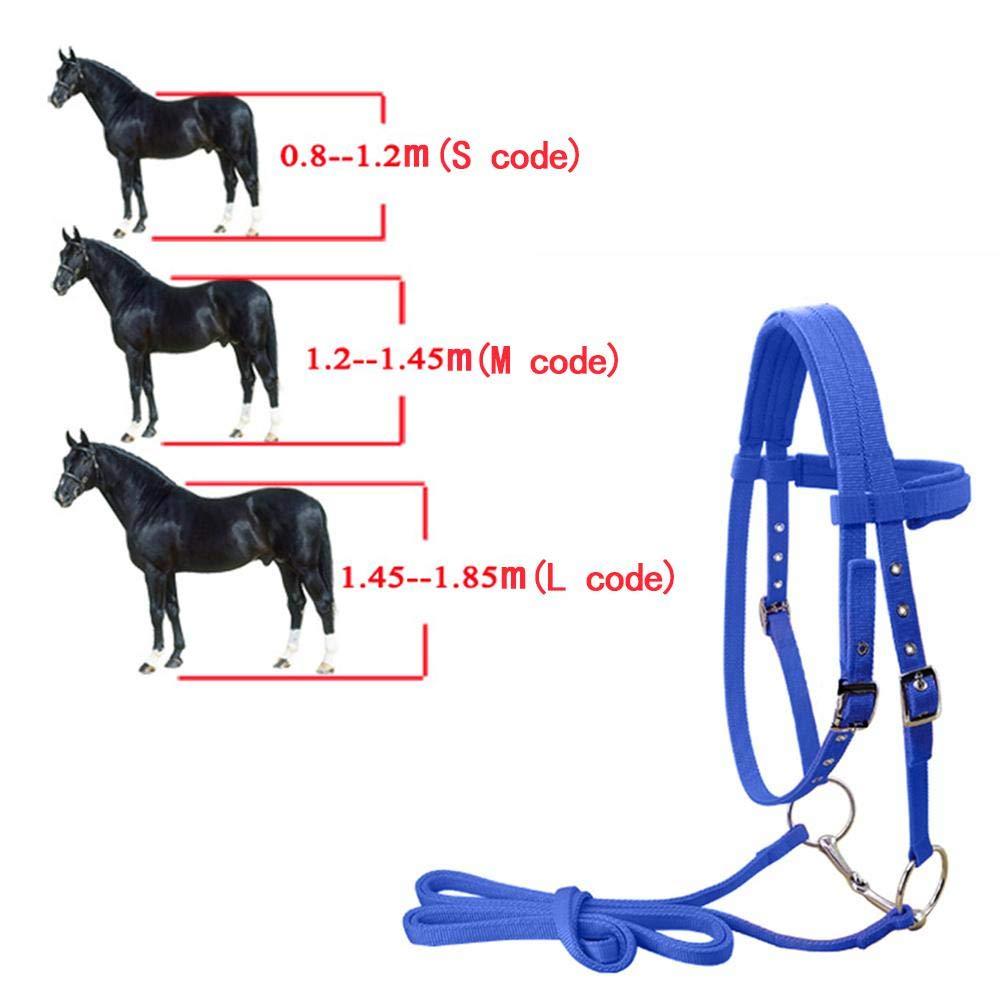 Disponibili in Vari Colori e Misure Womdee Caviglie per Cavalli Breaking Hackamore Briglie in Nylon Senza morsi per Cavalli