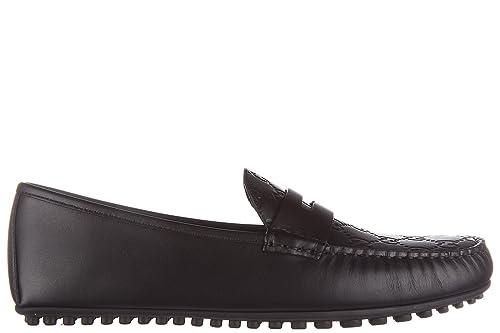 Gucci Mocasines en Piel Hombres Signature Negro EU 43 431063 CWD20 1000: Amazon.es: Zapatos y complementos