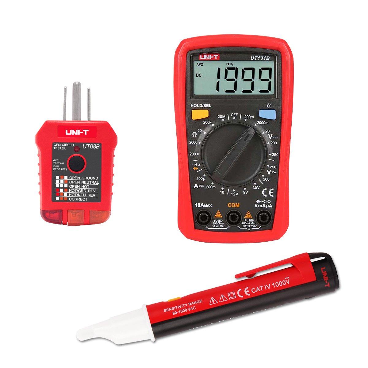 Signstek Maintenance and Test Electrical Test Kit, Including Palm Size Multimeter, Receptacle Tester and AC Voltage Detector by Signstek (Image #9)