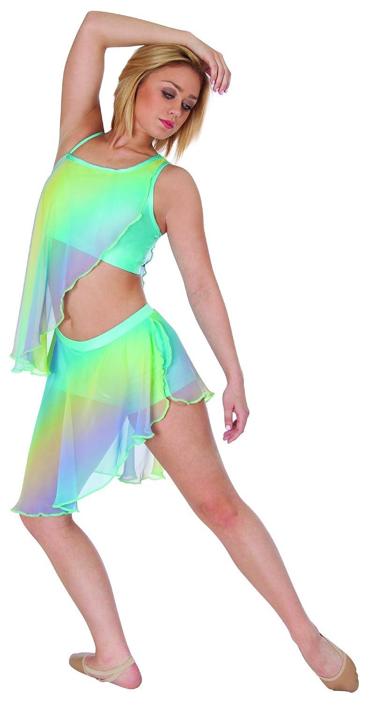 Body Wrappers Big Girls SKORT 3763 RAINBOW BRIG 8-10