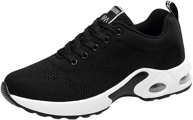Zapatillas de Deportivo Running Plataforma Cuña para Mujer Otoño Verano 2018 Moda PAOLIAN Casual Zapatos Escolares de Deportes de Exterior Señora Cómodos Calzado Dama Talla Grande Senderismo: Amazon.es: Zapatos y complementos