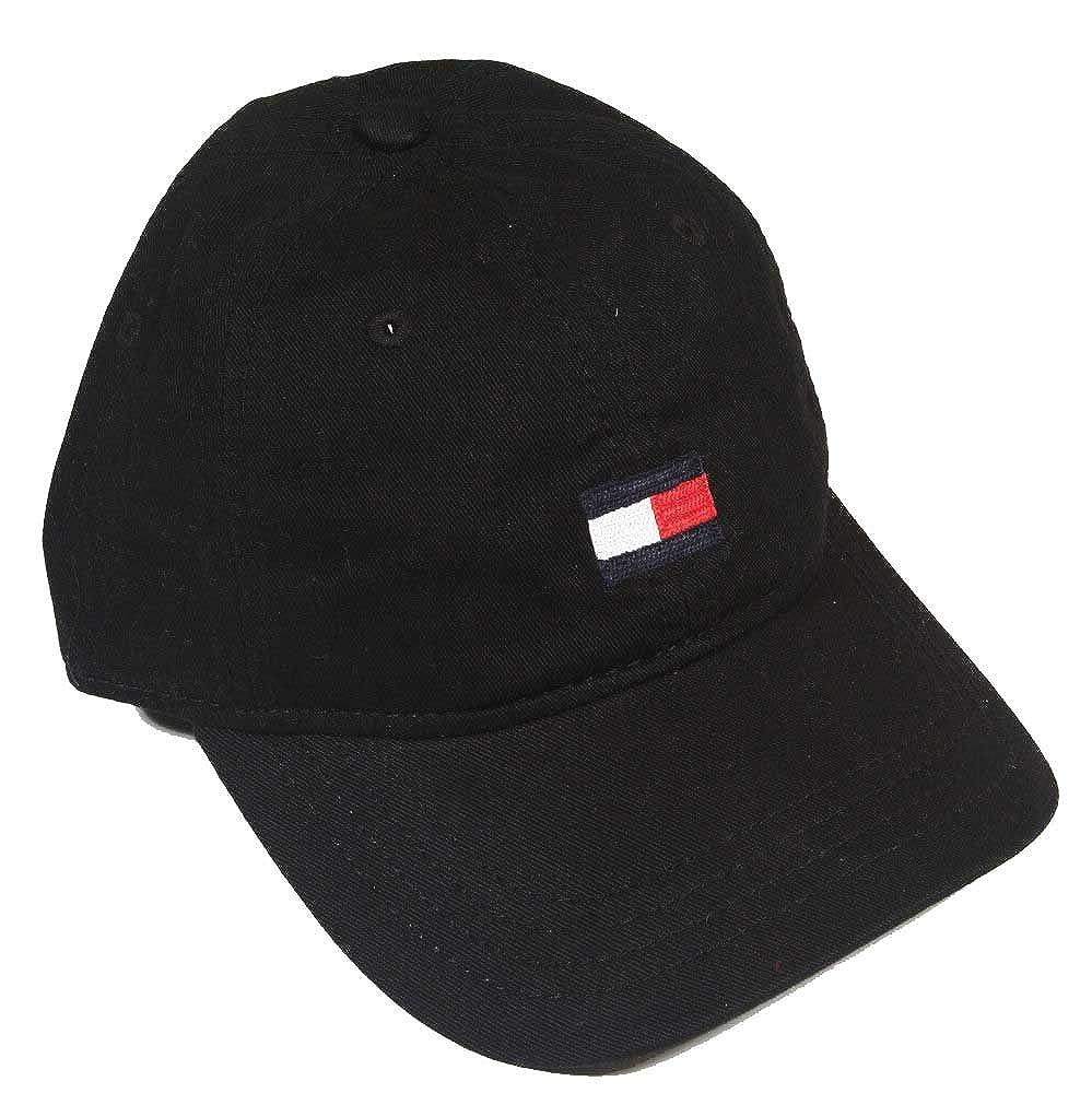 Tommy Hilfiger Baseball Hat Cap (Black Medium Logo) at Amazon Men s  Clothing store  1c77f4c06bf