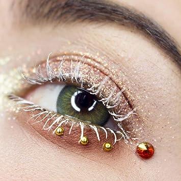 GLAMLENS lentillas de colores verdes Elly Green + contenedor. 1 par (2 piezas) - 90 Días - Sin Graduación - 0.00 dioptrías - blandos - Lentes de contacto verde de hidrogel de silicona: Amazon.es: Salud y cuidado personal